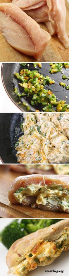 Jalapeno Cream Cheese Stuffed Chicken