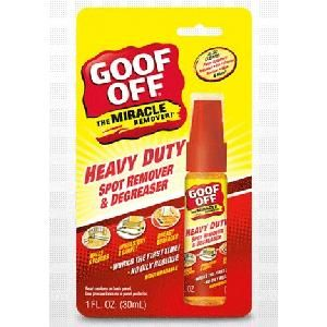 Like the Official Goof Off Products facebook page then click on the 'Giveaway' link at the top. Fill out the form to request a free sample bottle of Goof Off Heavy Duty Spot Remover and Degreaser.
