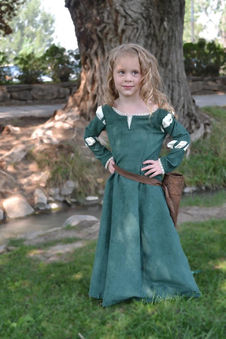 Merida, Brave Costume Dress. $125.00, via Etsy.