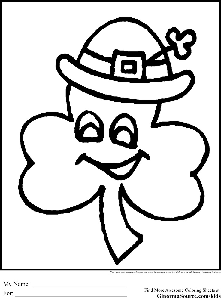 St Patricks Day Coloring Pages EMBROIDERY PATTERNS