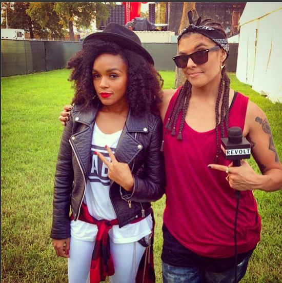 Janelle Monae Shows Off Her Loose Natural Hair  Read the article here - http://www.blackhairinformation.com/general-articles/celebrities/janelle-monae-twist-out/