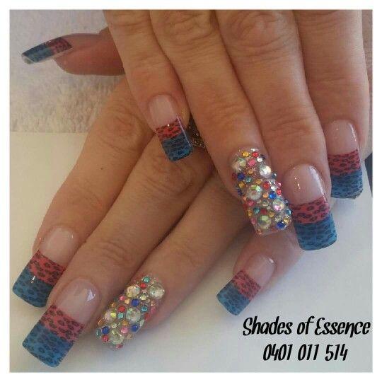 Rainbow nails, leopard nails, nailart