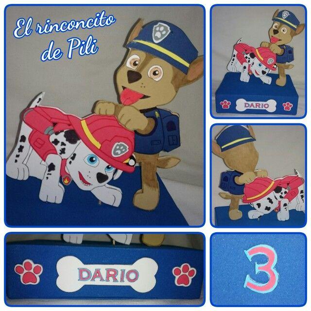 Centro de mesa cumpleaños Patrulla Canina #patrullacanina