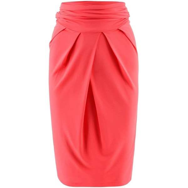 Kimmich Coral Stretch Skirt ($335) ❤ liked on Polyvore