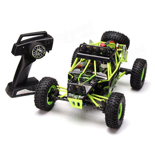 WLtoys 12428 2.4G 1/12 4WD Crawler RC Car With LED Light Sale - Banggood.com
