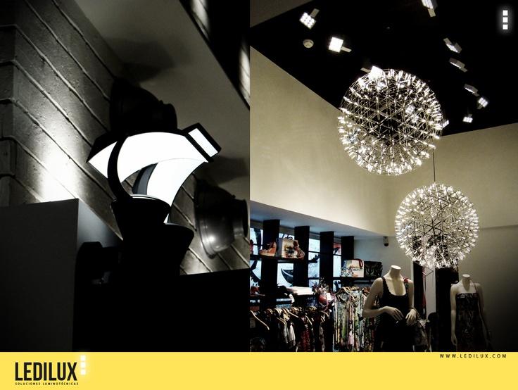proyecto de iluminacin led en tienda de moda
