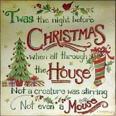 twas the night before christmas sign - Google Search