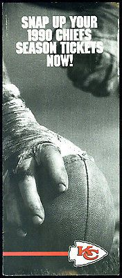 1990 Kansas City Chiefs Season Ticket Advertising Brochure with Home Schedule | eBay