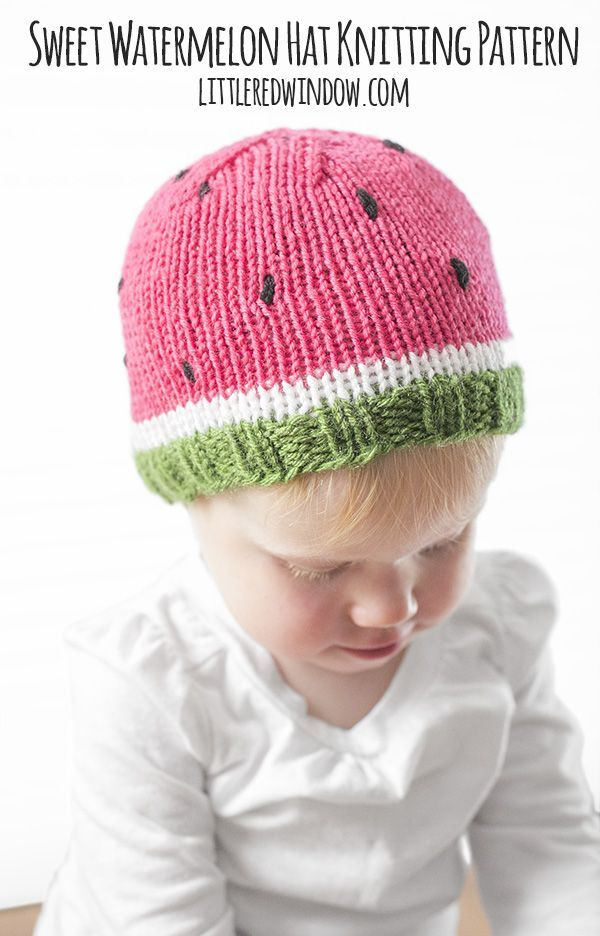 (Last Updated On: November 10, 2017)Knit a sweet watermelon hat for your baby or toddler with this free pattern! So I know, watermelon is a summery food. And knit hats are a wintery thing. But you know what, I don't know about where you live, but a lot of times, the air conditioning is out…