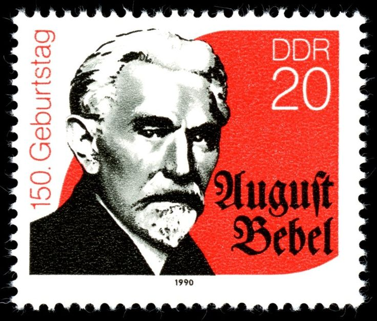Stamp: August Bebel (1840-1913) (Germany, Democratic Republic (DDR)) (150th birthday of August Bebel) Mi:DD 3310,Sn:DD 2799,Yt:DD 2914