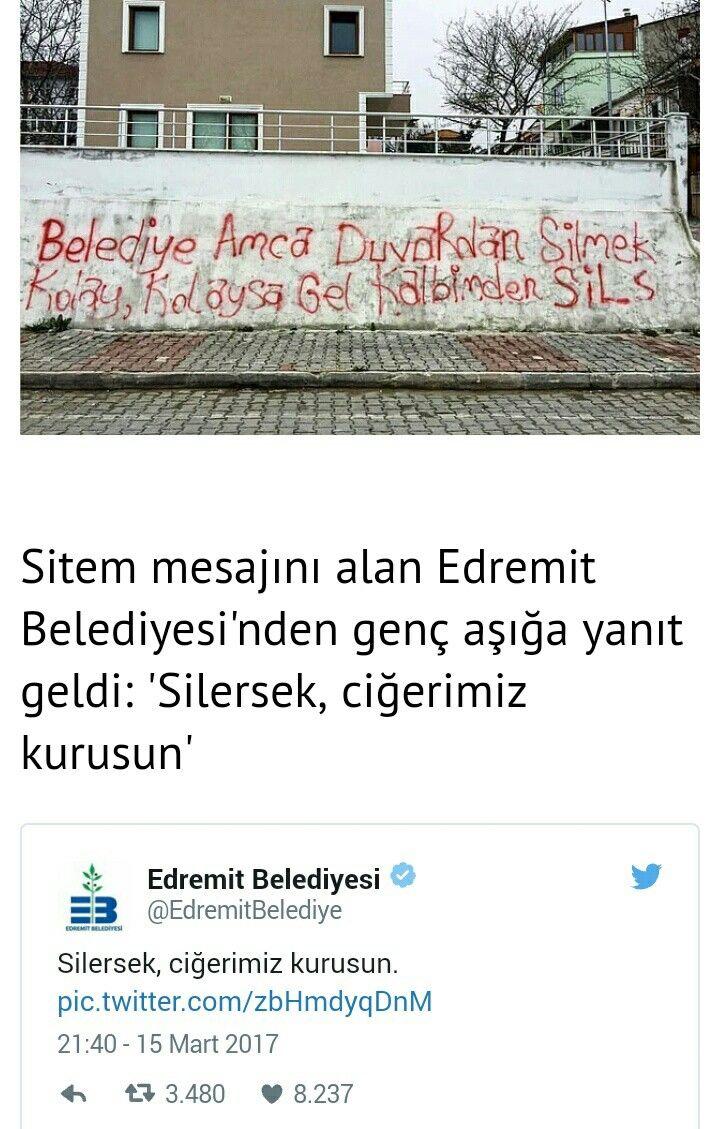 Halden anlayan Edremit Belediyesi/Cânım Turkiyem