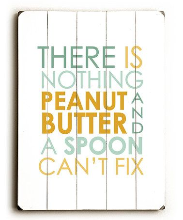 This 'Spoon & Peanut Butter' Wood Wall Art by ArteHouse is perfect! #zulilyfinds