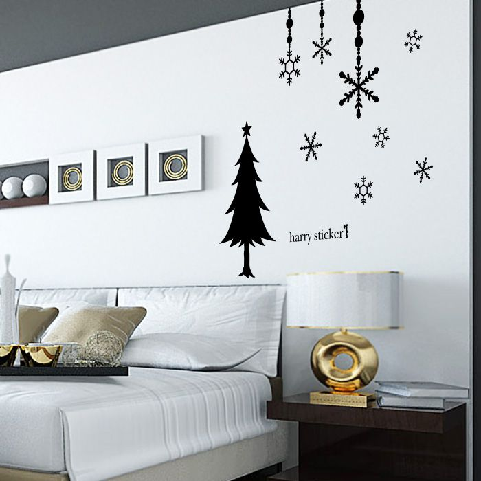 christmas tree and wall deco