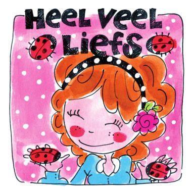 Heel veel liefs (meisje met lieveheersbeestjes) - Blond Amsterdam