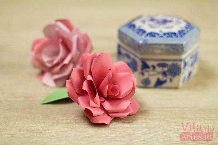 Tutorial Vila do Artesão - Como fazer uma rosa de papel linda