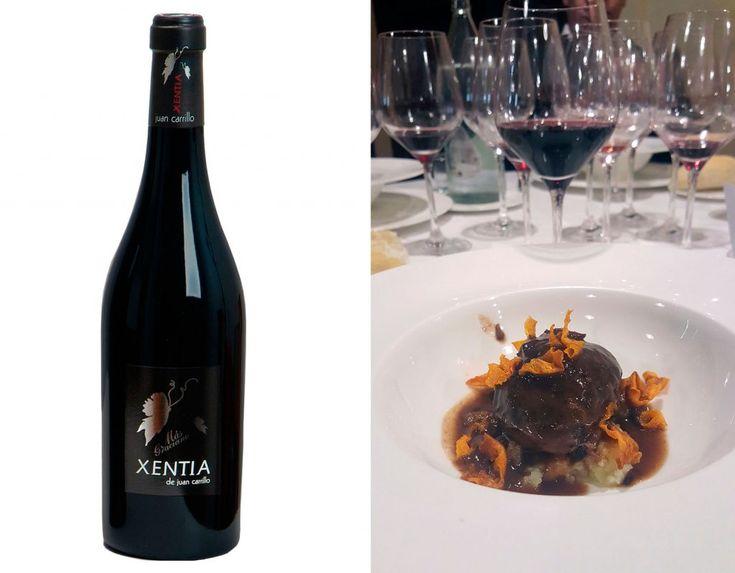 El Xentia con Carrilleras Ibéricas al vino tinto sobre crema de Patata - Restaurante Palacio Carvajal Girón - Comer Bien en Plasencia