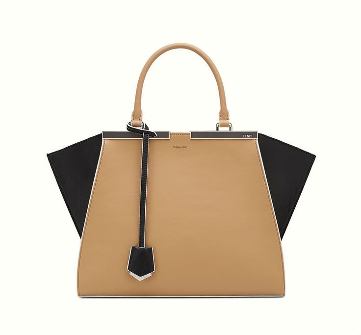 Fendi 3Jours bag with a natural-colored central panel and black sides.
