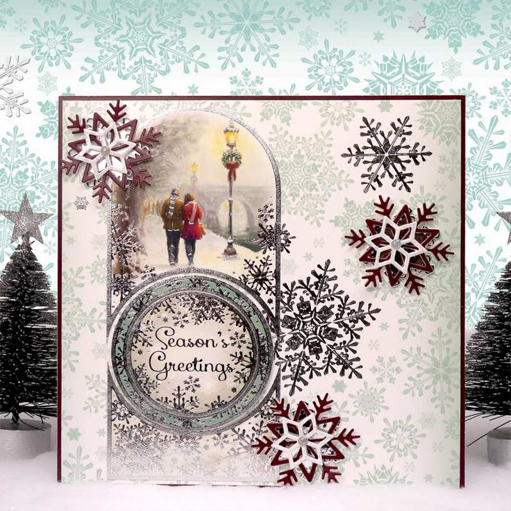 White Christmas by Hunkydory Crafts. Card made using 'A Snowy Sunday' topper set. Part of the 2014 Christmas Craftinator Collection. http://www.hunkydorycrafts.co.uk/acatalog/Winter-Romance-Individual-Topper-Set-XWHIT909.html#SID=271