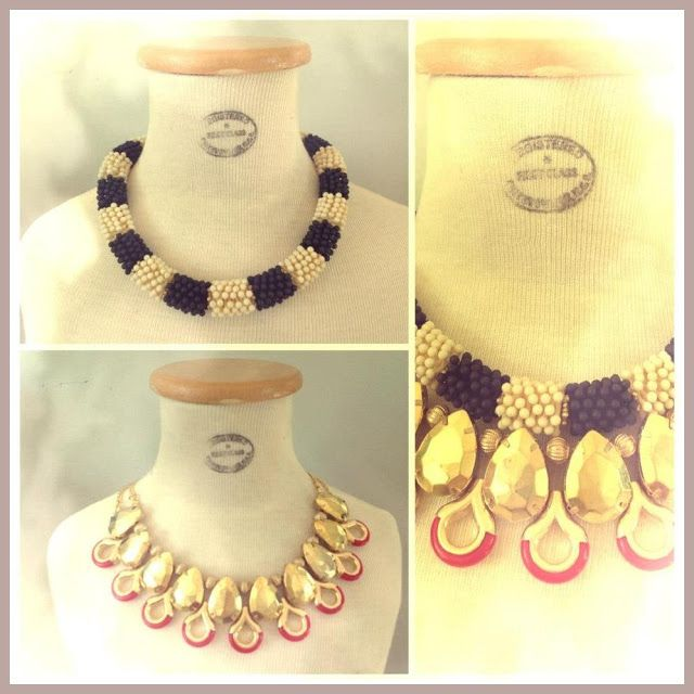 collares mechi garay | Maxi collar by Mechi Garay. Ph: https://www.facebook.com/pages/Mechi ...