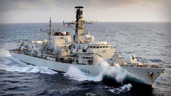 Royal Navy's Type 23 frigate HMS Northumberland