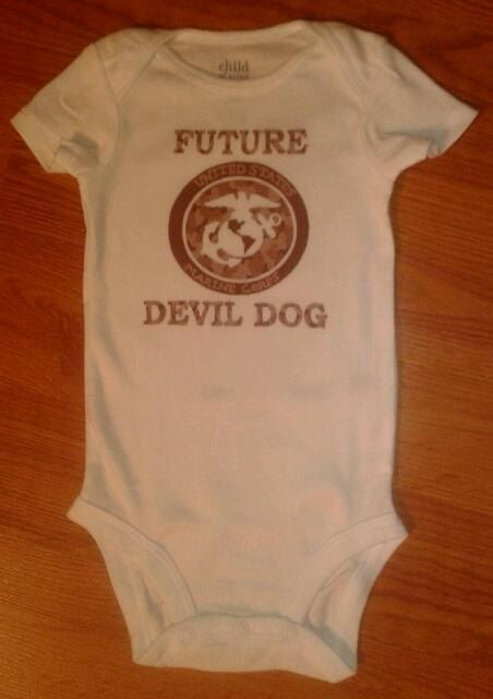 Future Devil Dog, Marine Corps Onesie - by tiffanylynnwilliams
