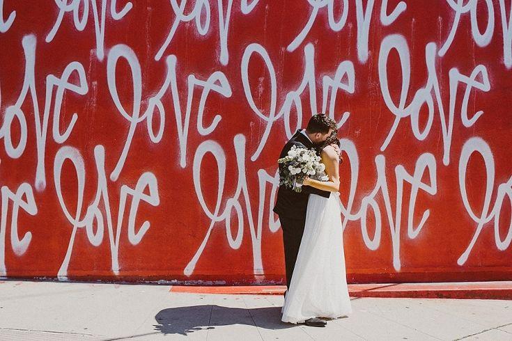 Red Love Wall wedding | Gina and Ryan photo | wish wonder dream planning
