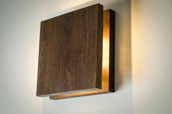 wall light wooden SC52 handmade. wooden sconce. wood lamp.