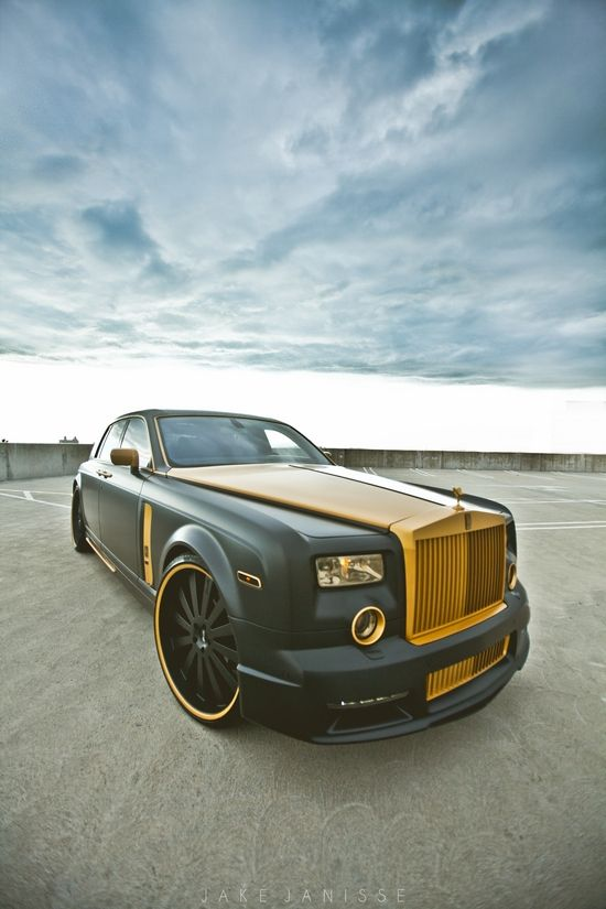 ♂ olive green car Platinum Motorsport X Shock Mansion - ROLLS GOLD custom PHANTOM!