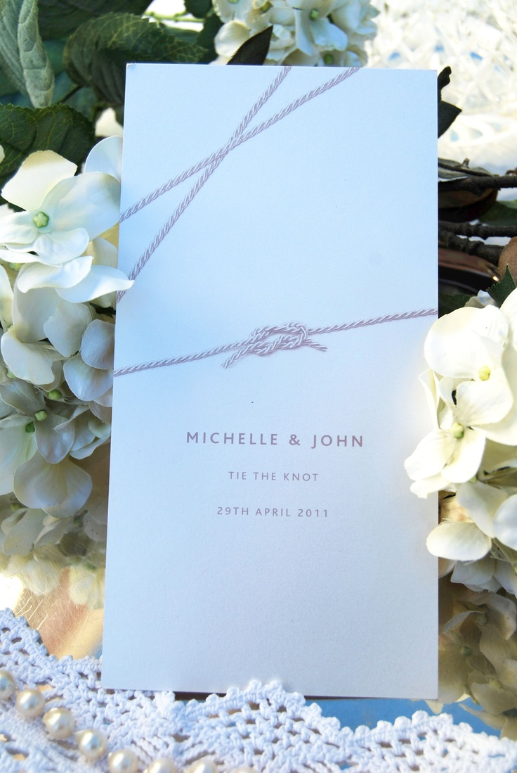 tie the knot wedding invitations etsy%0A Tie the Knot  Day Invitation  front