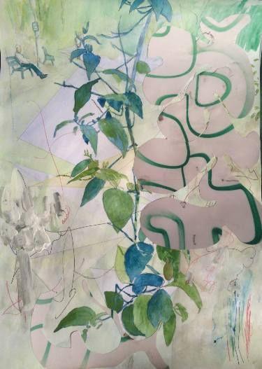 "Saatchi Art Artist Gregg Smith; Collage, ""Park life 2"" #art"