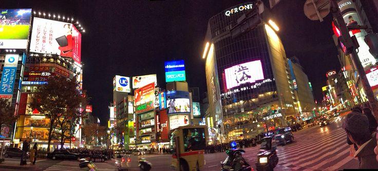 #Panoramic #Shibuya #scramble #Crossing #nighttime 夜の渋谷スクランブル交差点
