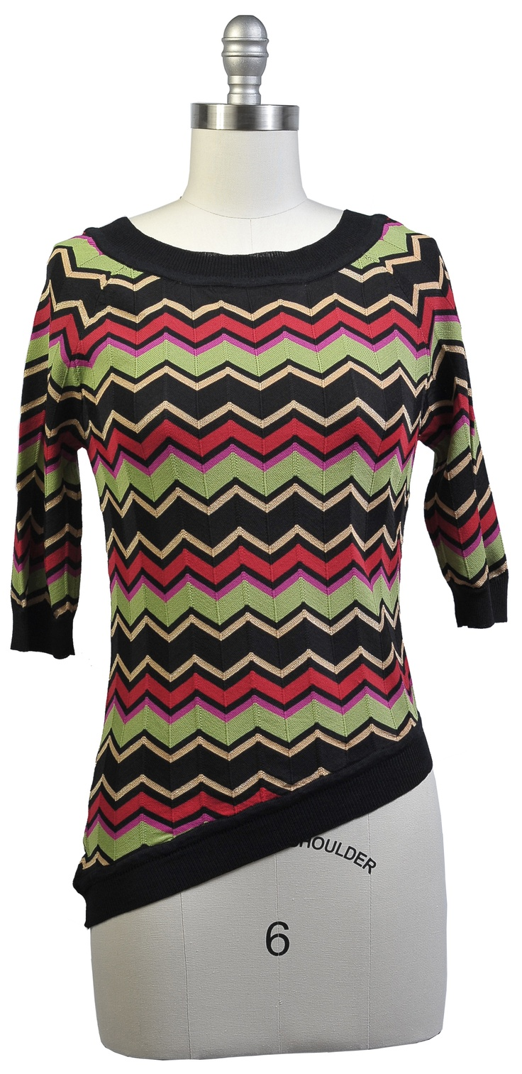 SW07 Asymetrical Top  Color: multi