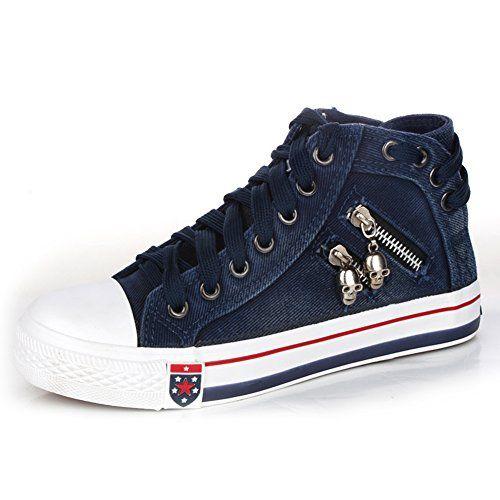 iBaste Damen Canvas Schuhe Cowboy Schuhe shoes Sneaker High Top Schnürschuh shoes Turnschuhe Erwachsene Sneaker - http://on-line-kaufen.de/ibaste-9/ibaste-damen-canvas-schuhe-cowboy-schuhe-shoes