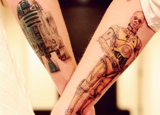 Tatuaggi di coppia: tattoo geek per innamorati