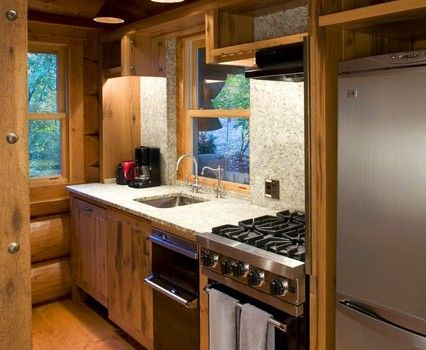 Small Rustic Kitchen Ideas | Traditional Rustic Wood Kitchen Design 426x350