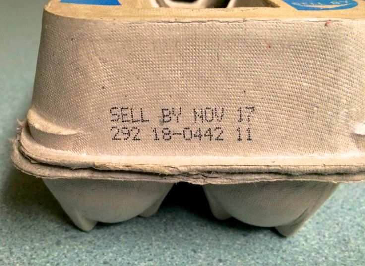 Crack the CODE before you crack the EGGS! Egg cartons must have 3 pieces of info: 1. A Packing Date, expressed as a 3 digit Julian calendar number (plenty of look-up sources on the web)- 292 in this case, which = Oct 19.   2. A Suggested Sell By Date- Nov 17 in this case, arbitrarily assigned by the packer.  3. A Plant Code - 18-0442 in this case.  Refrigerated eggs will keep for 4-6 weeks from the packing date. Crack the code, do the math, THEN crack the egg!