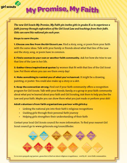 Brownies Girl Scout - My Promise My Faith pdf document