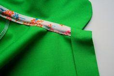 Netjes afgewerkte hals (kan ook bij shirts)