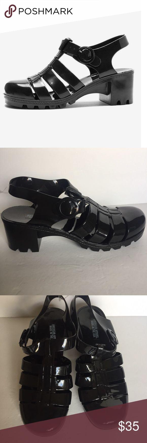 Black jelly sandals american apparel - American Apparel Black Woven Jelly Sandals 10