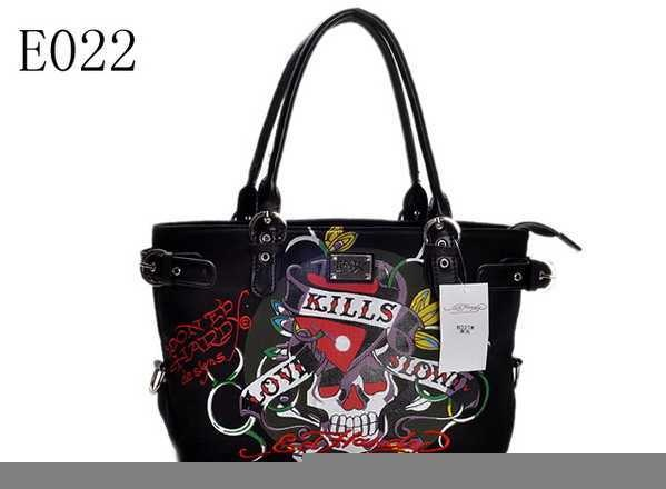7cb5d882ec Black Ed Hardy purse