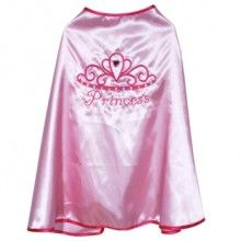 Your Princess will love this gorgeous pale pink satin cape with hot pink trim  Size 3-4