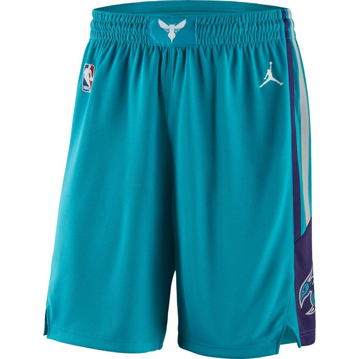 Men's Charlotte Hornets Brand Jordan Teal Icon Swingman Basketball Shorts