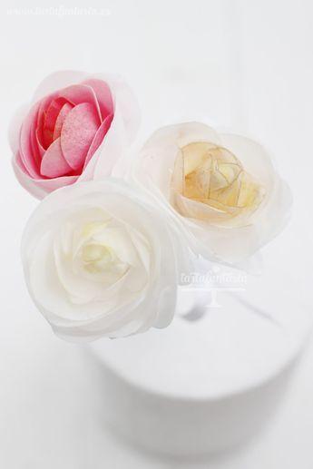 Rosas Comestibles De Papel De Oblea O Wafer Paper Faciles De Hacer