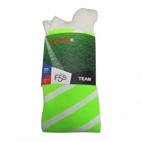 Odd Socks Striped White on Green