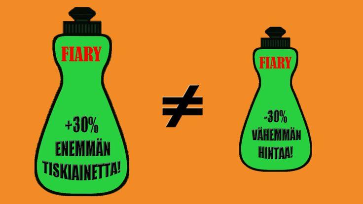 30% enemmän tavaraa vai 30% alennus hinnasta? Kesä-alessa kertarysäys vai lisäale? Kumman tuotteen sinä ostaisit? Hyvinkääläisen Sveitsin lukion opiskelijat todistavat, että numerot voivat hämätä.