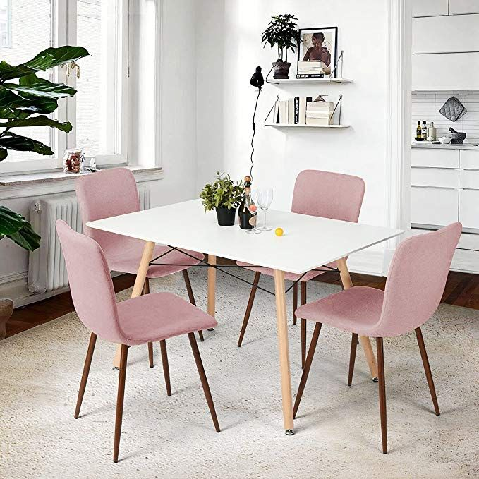 coavas dining chairs set of 4 fabric cushion kitchen table chairs rh pinterest com step2 lifestyle kitchen table and chairs - pink step2 lifestyle kitchen table and chairs - pink