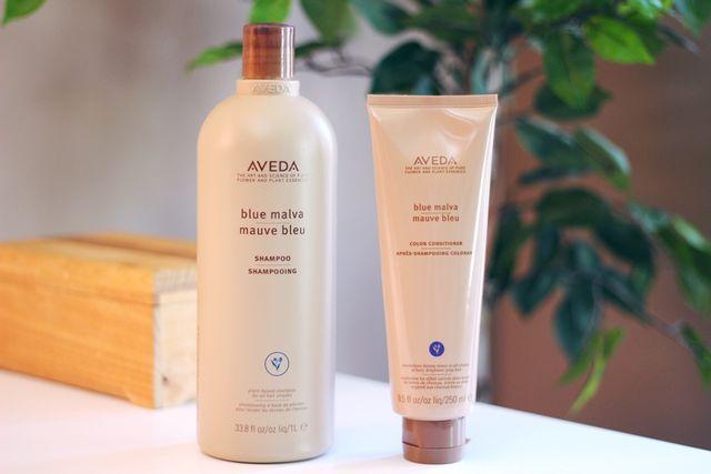 Blonde Care: Aveda Blue Malva Shampoo + Conditioner (via Bloglovin.com )