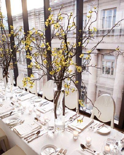 7. Rustic Elegance…  Photo Credit: MarthaStewartWeddingsIf your venue is a city loft or a fancy hotel ballroom you can still play around with the idea of a …