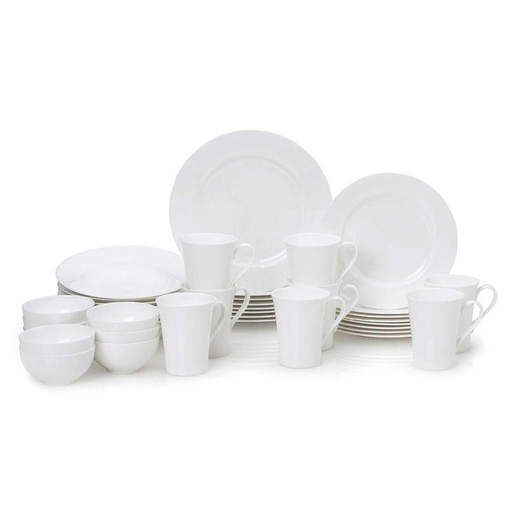 Mikasa® Lucerne White 40-Piece Dinnerware Set