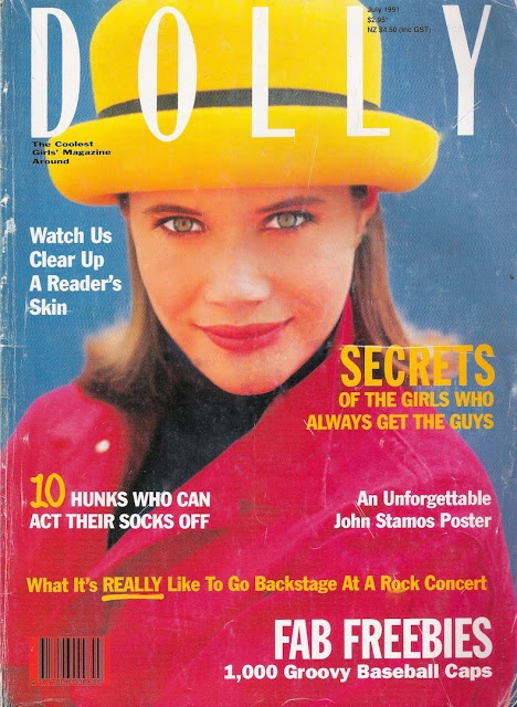 Glossy Sheen: Dolly Magazine July 1991. I was obsessed with Anna Louise Gould. She was my teenage role model.